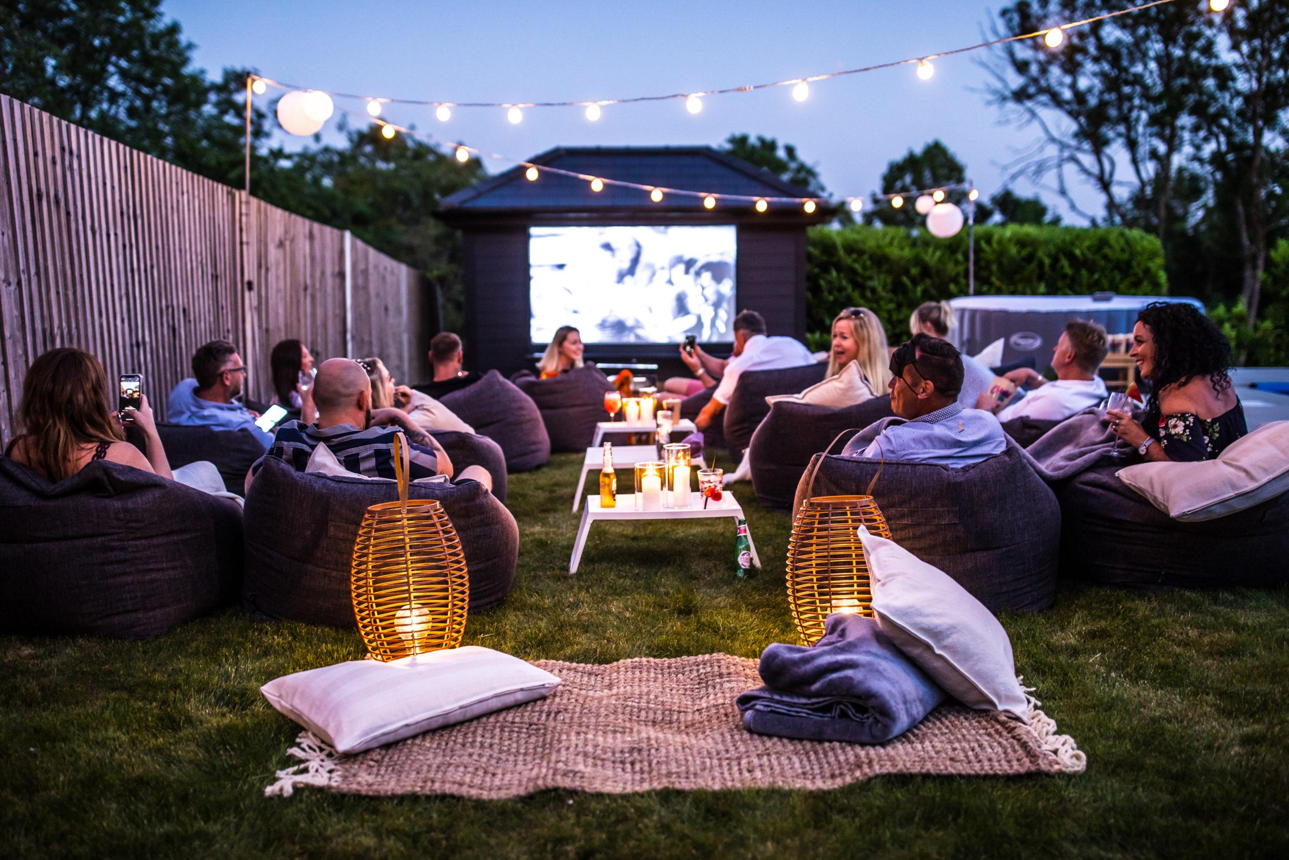 Garden Cinema Set Up