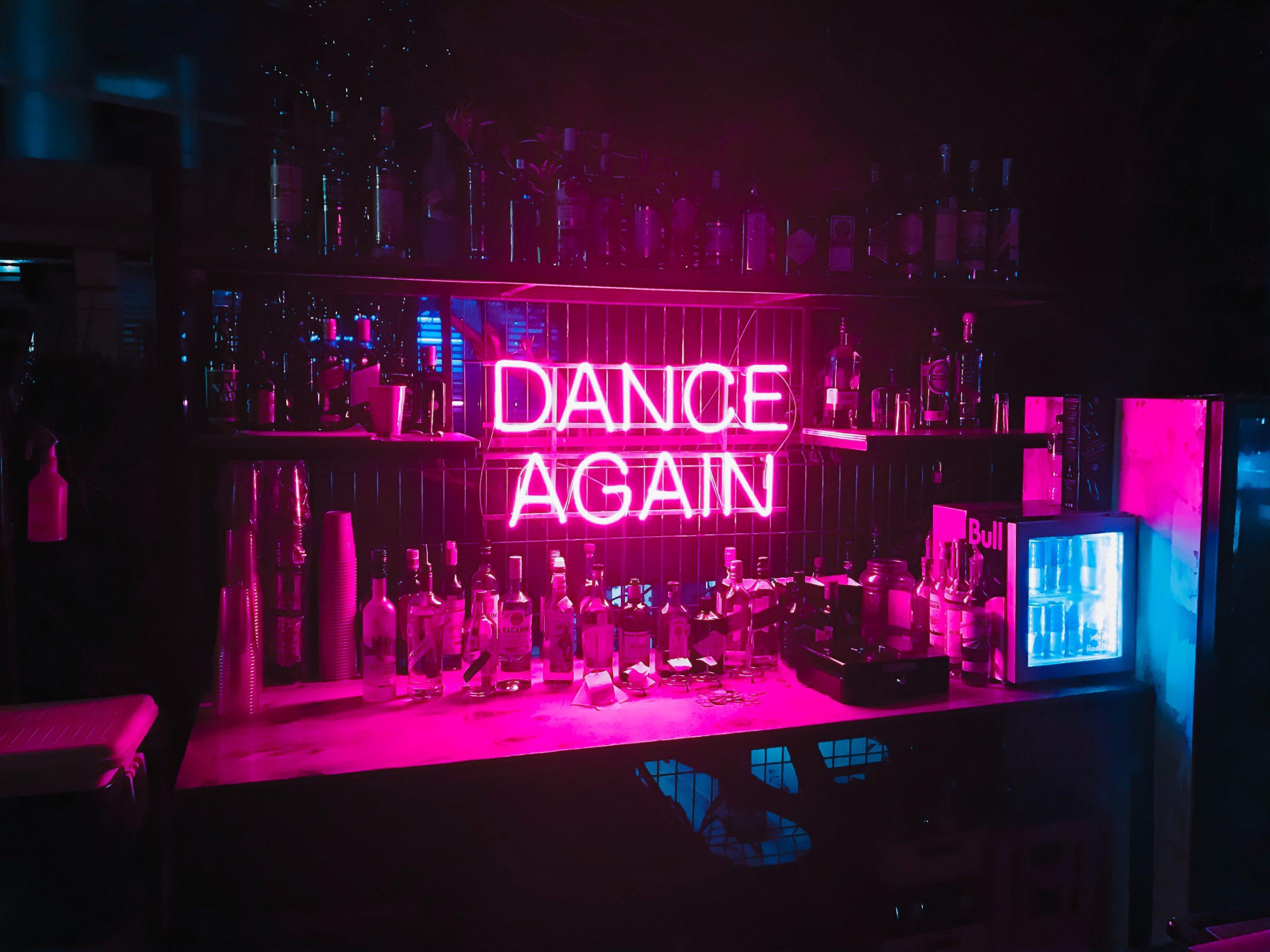 Dance again neon sign